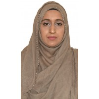 Hijab with Metal Bead Trim - Coffee Brown